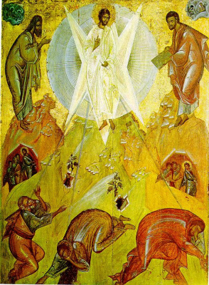 Icon Painting. The Transfiguration Of The Lord
