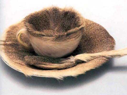 Чайный меховой прибор
