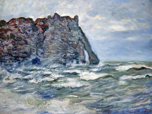 Claude Monet. Port d Aval, rough sea