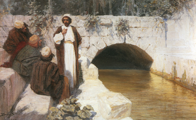 "Vasily Dmitrievich Polenov. For whom I revere people. Painting from the series ""From the life of Christ"""