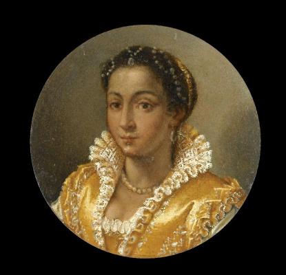 Лавиния Фонтана. Портрет девушки в желтом шелковой платье
