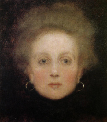 Gustav Klimt. The woman's face full-face