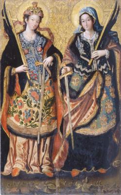 Украинский Иконописец XVIII века. Великомученицы Анастасия и Иуляния
