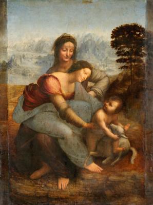 Leonardo da Vinci. The Virgin and Child with Saint Anne