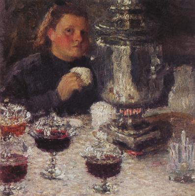 Igor Grabar. The samovar