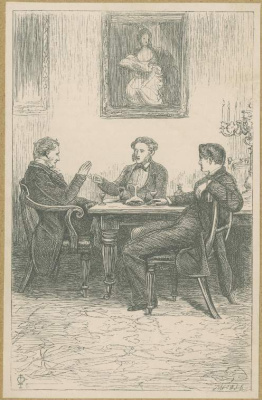 John Everett Millais. Over a glass of wine. Illustration for the works of Anthony Trollope