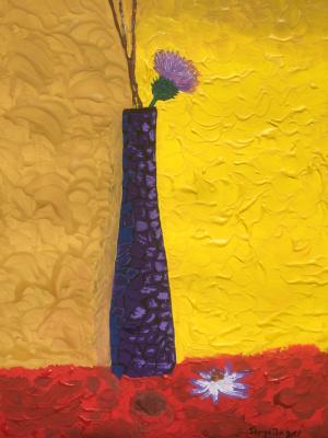Serge Jagat. Still Life with Thistle