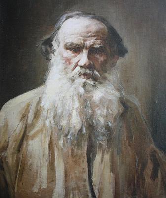 Pavel Petrovich Benkov. Portrait of Leo Tolstoy
