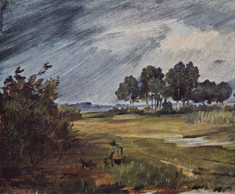 Wilhelm Bush. Landscape with rain
