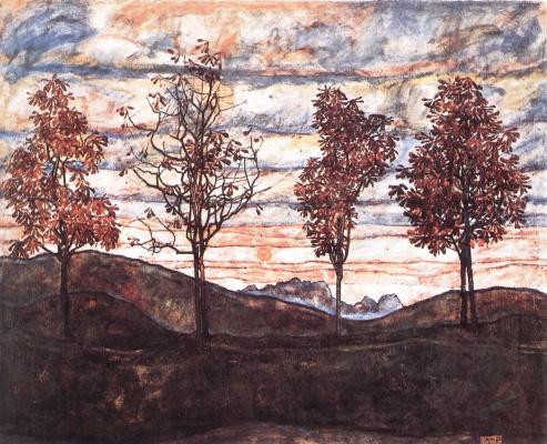Эгон Шиле. Четыре дерева