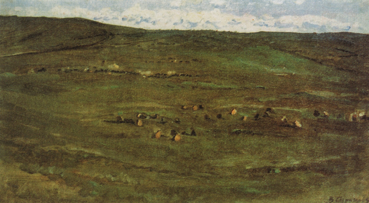 Vasily Ivanovich Surikov. A herd of horses in the steppe Babinskoe