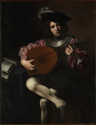 Valentin de Boulogne. Lute player