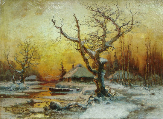 Julius Klever. Winter landscape