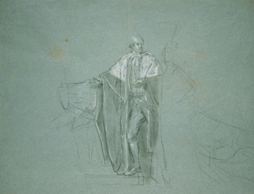 John Singleton Copley. Death of the Earl of Chatham. Sketch