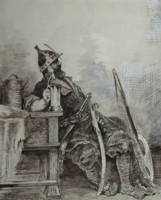 Andrei Petrovich Ryabushkin. Bogatyr 1893