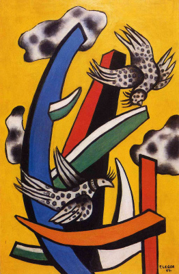 Fernand Leger. Birds on a yellow background