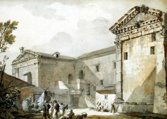 Шарль-Луи Клериссо. Храм Августа и Дианы в Поле