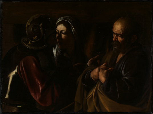 Michelangelo Merisi de Caravaggio. The denial of St. Peter
