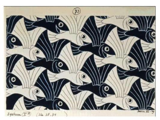 Maurits Cornelis Escher. Flying Fish (No. 73)