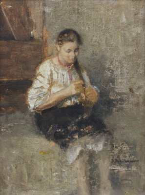 Иван Павлович Похитонов. Portrait of Marfushi