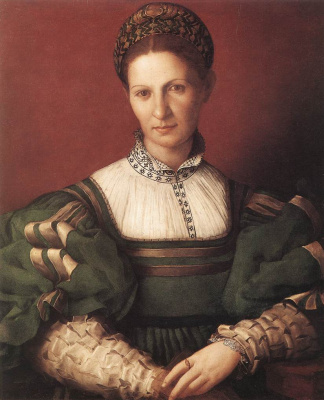 Agnolo Bronzino. Portrait of a lady in green