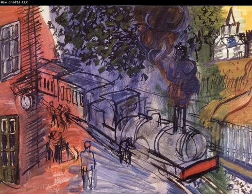 Raoul Dufy. Train