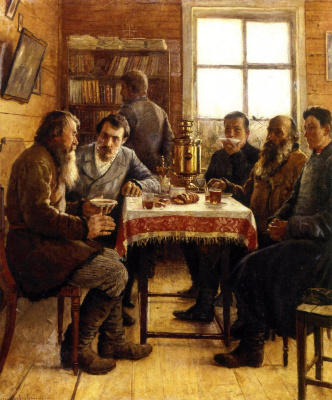 Nikolay Petrovich Bogdanov-Belsky. Visiting teachers