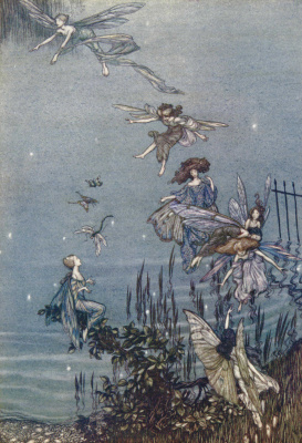 Arthur Rackham. Peter Pan in Kensington Garden