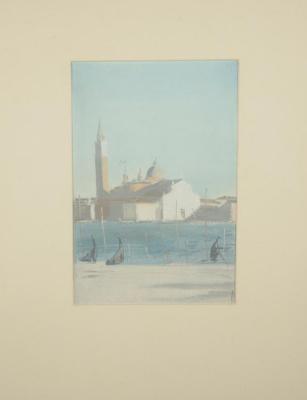 Dmitry Dmitrievich Bushen. Venice. View of San Giorgio Maggiore.