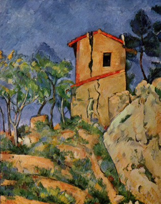 Paul Cezanne. House with cracks in the walls