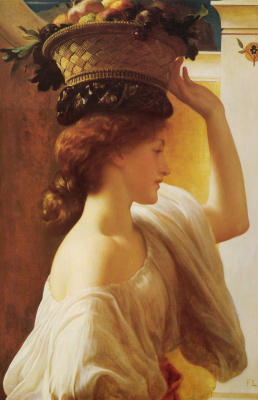 Frederic Leighton. Girl with a basket of fruit
