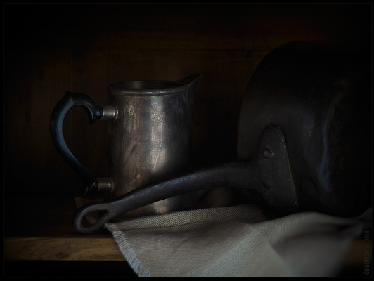 Evgeniy Borisovich Grigoriev. Ladle and coffee pot