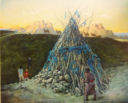 "Valery Petrovich Erofeevsky. ""Across Mongolia"", 2006, oil on canvas, 100x120"