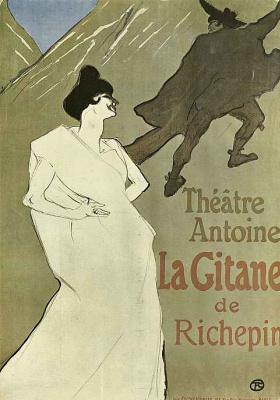 """Henri de Toulouse-Lautrec. Poster """"La Gitane"""""""
