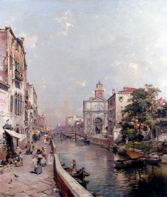 Franz Richard Unterberger. Rio San Geronimo, Venezia