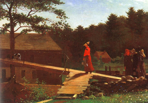 Winslow Homer. The old mill. Morning bell