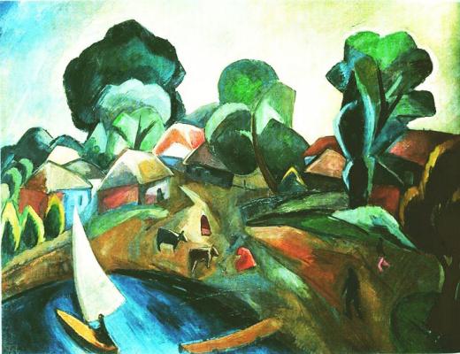 Robert Rafailovich Falk. Landscape with sail