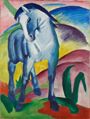 Franz Marc. Blue horse