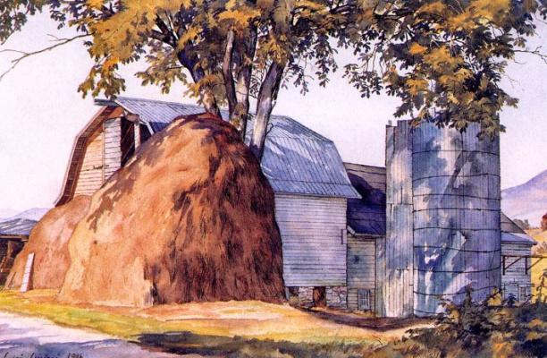 Luigi Lucioni. Big haystack