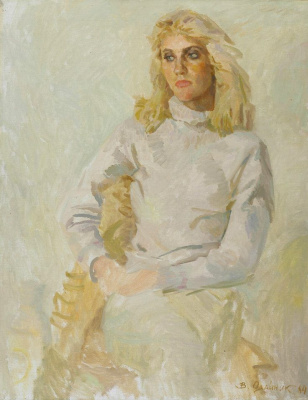 1984. Oksana, portrait of the artist daughter