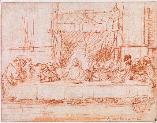 Тайная вечеря (по мотивам Леонардо да Винчи)