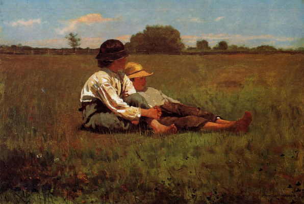 Winslow Homer. Boys in a pasture