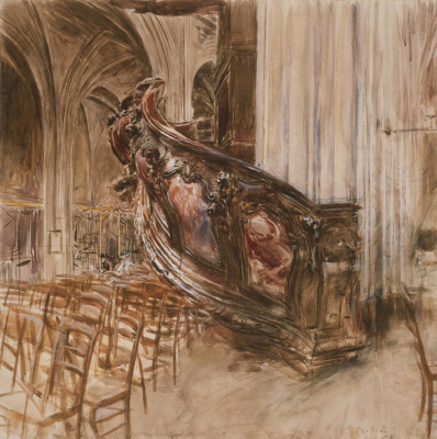 Giovanni Boldini. The Department of the Preacher of the Cathedral of Saint Andrew in Bordeaux