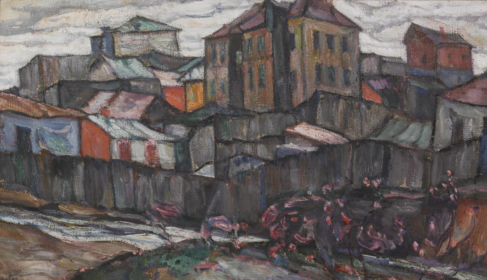 Абрам Аншелевич Маневич. Stormy sky over the city