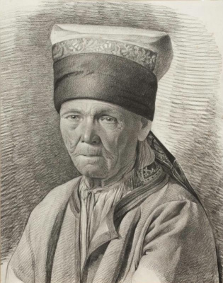 Maria Alekseevna Polenova (Voeikova). An old woman in northern peasant clothes