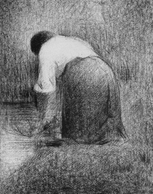 Georges Seurat. Laundress