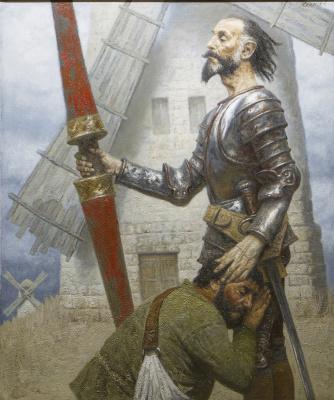 Heliy Mikhailovich Korzhev. Don Quixote and windmill