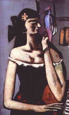Макс Бекман. Женщина с попугаем