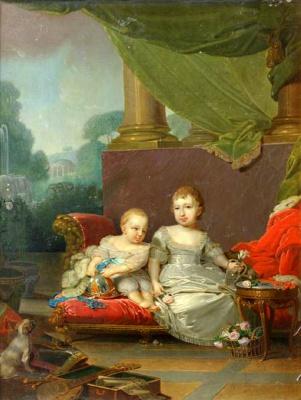 Portrait of Grand Duke Nikolay Pavlovich and Grand Duchess Anna Pavlovna as a Child