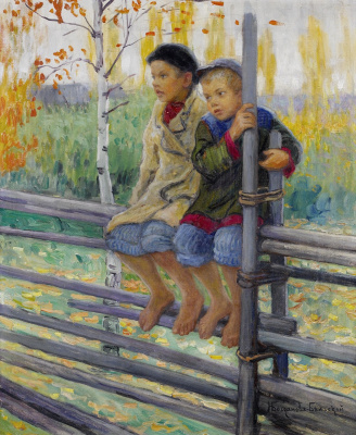 Nikolay Petrovich Bogdanov-Belsky. Best friends